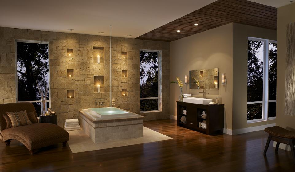 חיפוי אבן לקירות פנים וחוץ אמבטיה יפהפייה אחרי